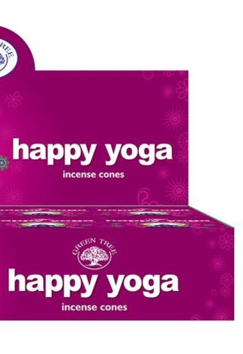 Green Tree Kegelwierook happy yoga (10 stuks)