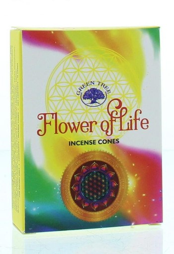 Green Tree Kegelwierook flower of life (10 stuks)