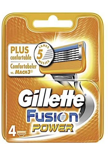 Gillette Fusion Power Mesjes 4st