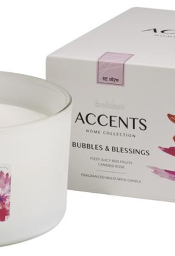 Bolsius Accents geurkaars multi lont bubbles & blessings (1 stuks)