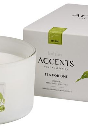 Bolsius Accents geurkaars multi lont tea for one (1 stuks)