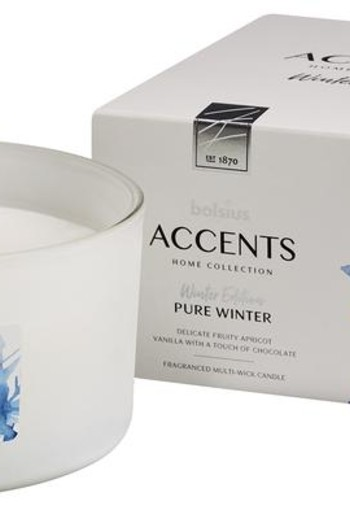 Bolsius Accents geurkaars multi lont pure winter (1 stuks)