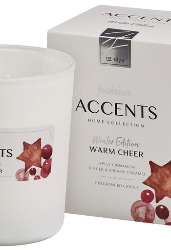 Bolsius Accents geurkaars warm cheer (1 stuks)
