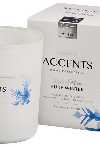 Bolsius Accents geurkaars pure winter (1 stuks)