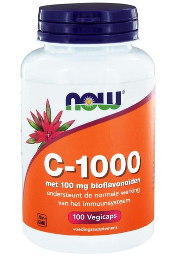 NOW Vitamine C 1000 mg bioflavonoiden (100 vcaps)