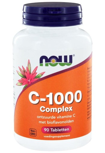 NOW Vitamine C 1000 mg complex (90 tabletten)