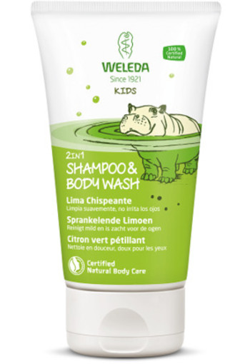 Weleda Kids 2 In 1 Shampoo & Body Wash Sprankelend Limoen 150ml