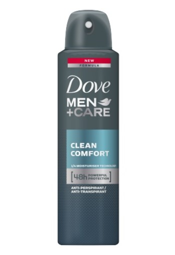 Dove Men Deodorant Spray Clean Comfort 150ml