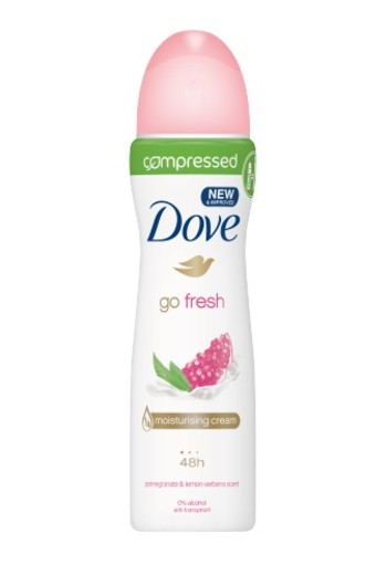 Dove Deodorant Body Spray Compressed Go Fresh Pomegran 75ml
