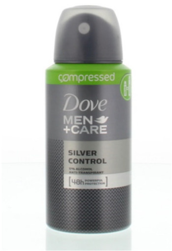 Dove Men Deodorant Spray Compressed Silver Control 75ml