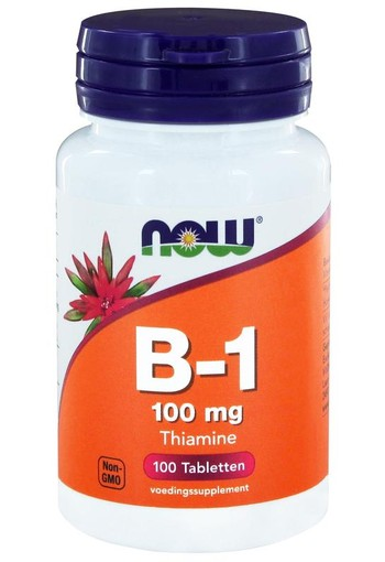NOW Vitamine B1 100 mg (100 tabletten)