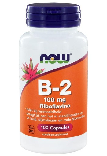 NOW Vitamine B2 100 mg (100 capsules)