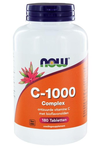 NOW Vitamine C 1000 mg complex (180 tabletten)