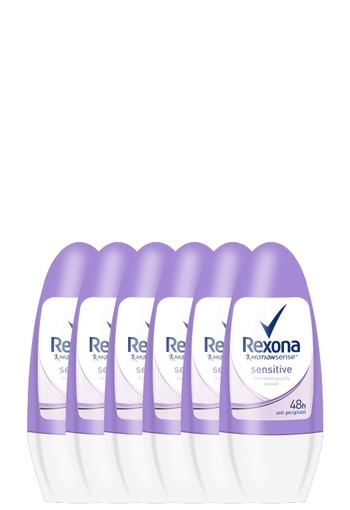 Rexona Sensitive Roll-on Anti-transpirant voor vrouwen 50ml