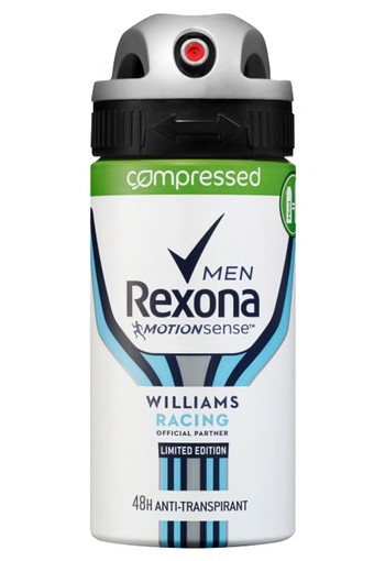 Williams Racing Aerosol Compressed Anti-transpirant voor mannen 75ml