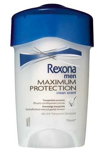 Rexona Clean Scent Maximum Protection Stick Anti-transpirant voor mannen 45ml