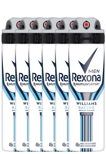 Rexona Williams Racing Aerosol Anti-transpirant voor mannen 150ml