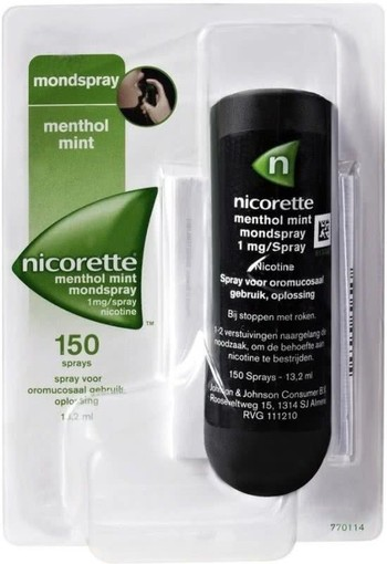 Menthol mint mondspray 1mg