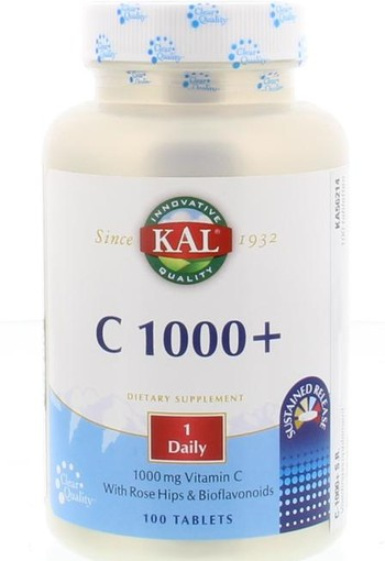 KAL Vitamine C1000 sustained release (100 tabletten)