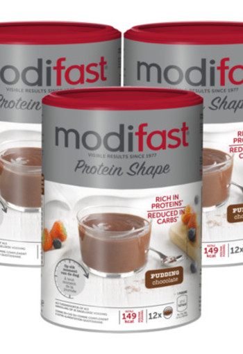 Modifast Protein Shape Pudding Chocolade Trio 3x 540gr