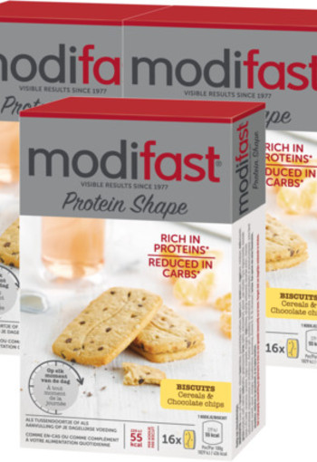 Modifast Protein Shape Biscuits Cereals & Chocolate Chips Trio 3x 200g