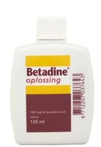 Betadine Jodium oplossing 100 mg/ml (120 ml)
