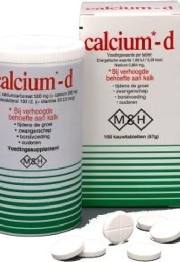 M&H Pharma Calcium-D (100 tabletten)