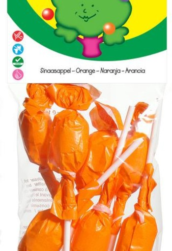 Candy Tree Sinaasappel lollies (7 stuks)