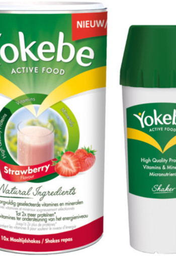 Yokebe Strawberry Met Shakebeker 500g