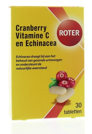Roter Cranberry vitamine C & echinacea (30 tabletten)