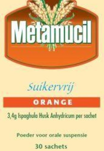 Metamucil Orange suikervrij (30 sachets)