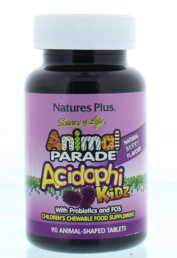 Natures Plus Animal parade acidophilus kidz (90 kauwtabletten)