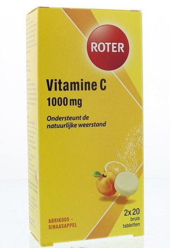 Roter Vitamine C 1000 mg sinaasappel & abrikoos duo (40 bruistabletten)