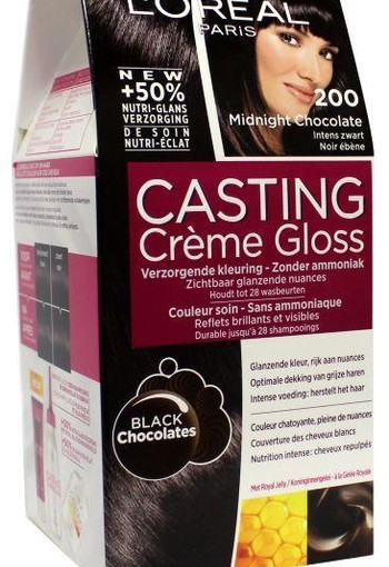 Loreal Casting creme gloss 200 Midnight chocolate (1 set)