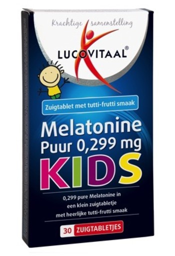 Lucovitaal Melatonine Kids Puur 0.299 Mg 30tb