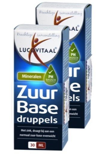 Lucovitaal Zuur Base Druppels Duo (fso) 2x30ml