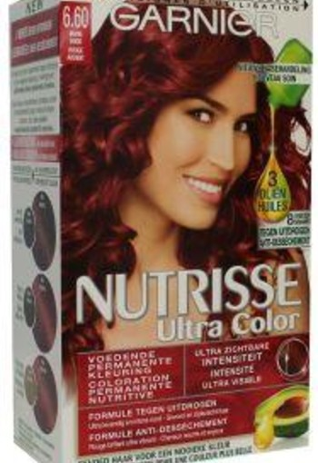 Garnier Nutrisse ultra color 6.6 vurig rood (1 set)