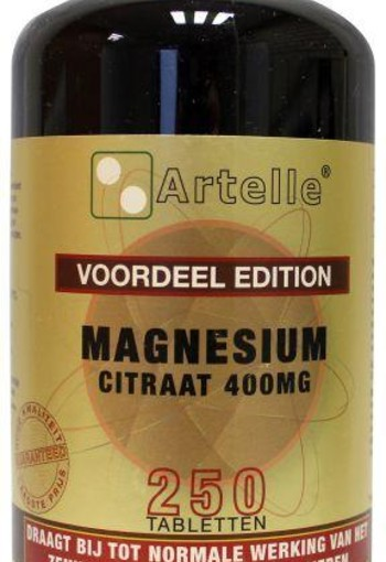 Artelle Magnesium citraat elementair (250 tabletten)