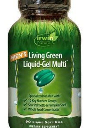 Irwin Naturals Living green liquid gel multi for men (120 softgels)