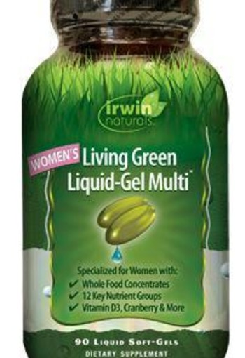 Irwin Naturals Living green liquid gel multi for women (120 softgels)