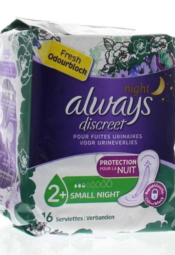 Always Discreet maandverband small night (16 stuks)