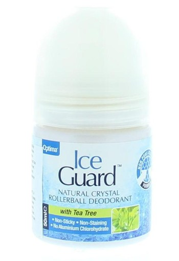 Optima Ice guard deodorant roll on tea tree (50 ml)