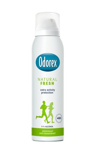 Odorex Body heat responsive spray natural fresh (150 ml)