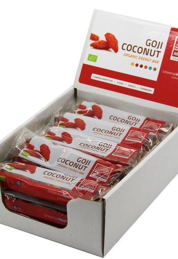 Mattisson Organic energy bar goji coconut 30 gram (15 stuks)