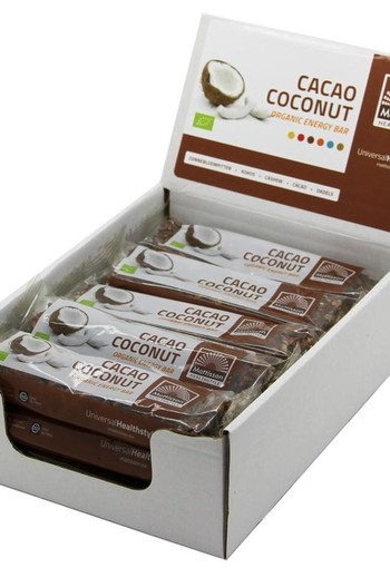Mattisson Organic energy bar cacao coconut 30 gram (15 stuks)