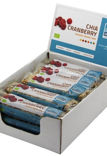 Mattisson Organic energy bar chia cranberry 40 gram (15 stuks)