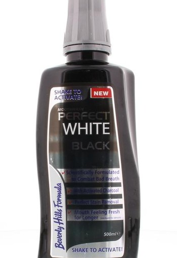 Beverly Hills Perfect white black sensitive mouthwash (500 ml)