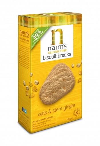 Nairns Biscuit breaks ginger (160 gram)