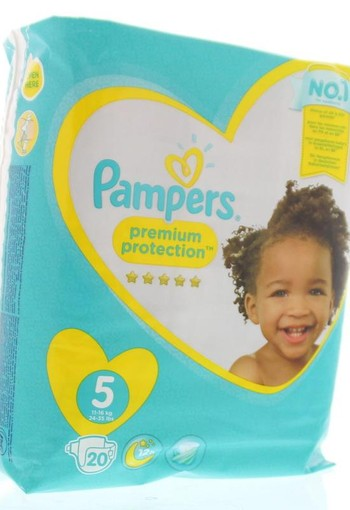 Pampers Premium protection junior S5 (20 stuks)