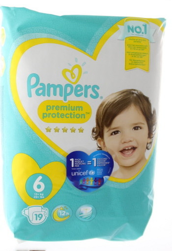 Pampers Premium protection XL S6 (19 stuks)